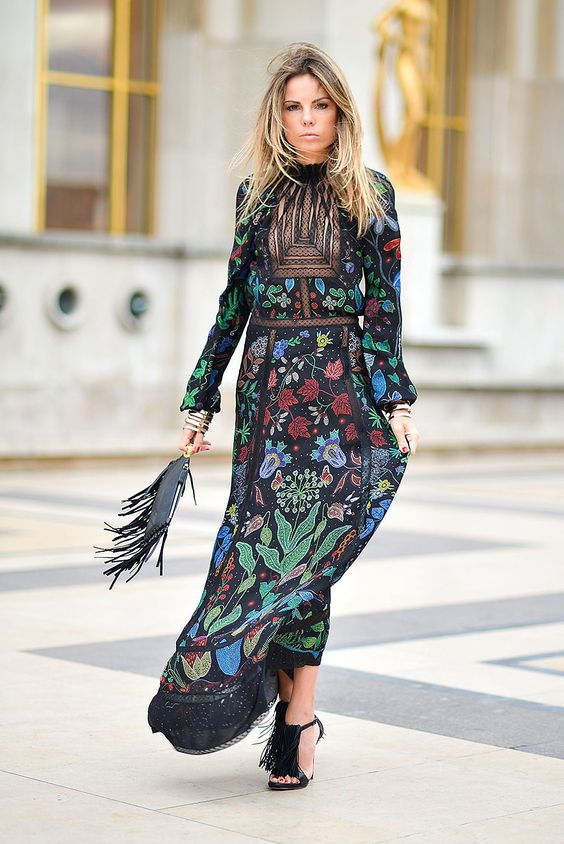 floral dress trend 2017 street style 4