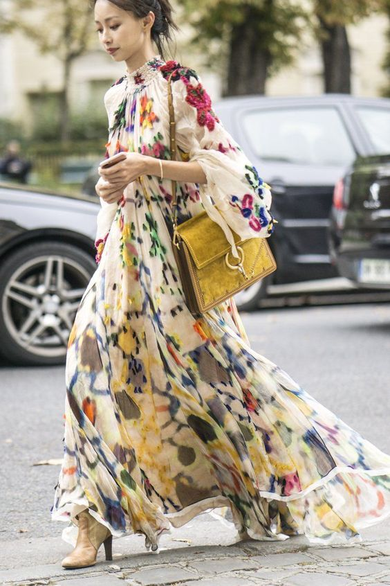 floral dress trend 2017 street style 5