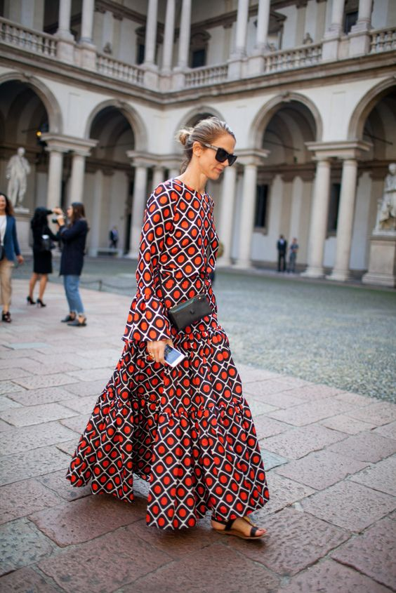 floral dress trend 2017 street style 6