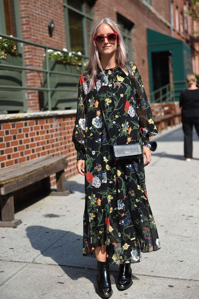 floral dress trend 2017 street style 7