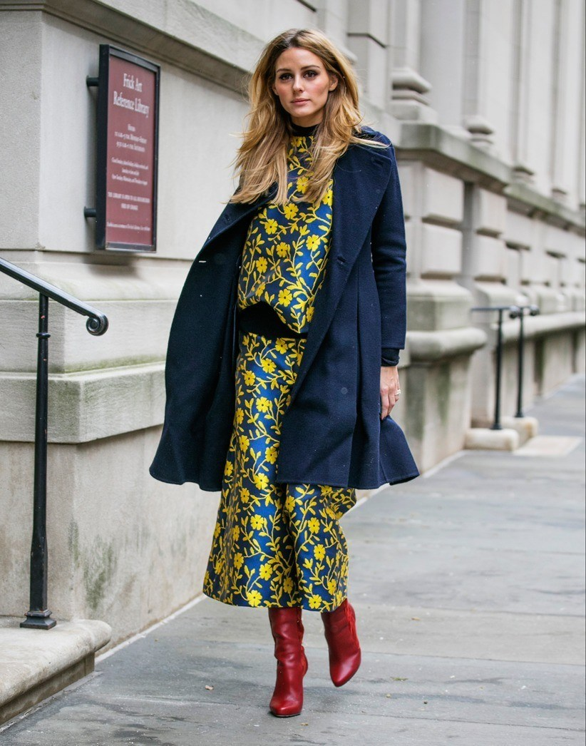 olivia palermo floral dress trend 2017 street style