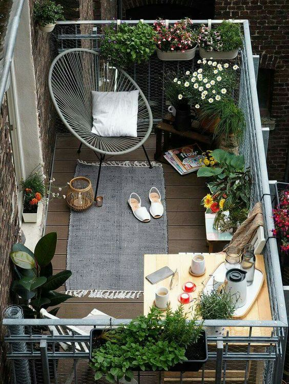 small cozy balcony