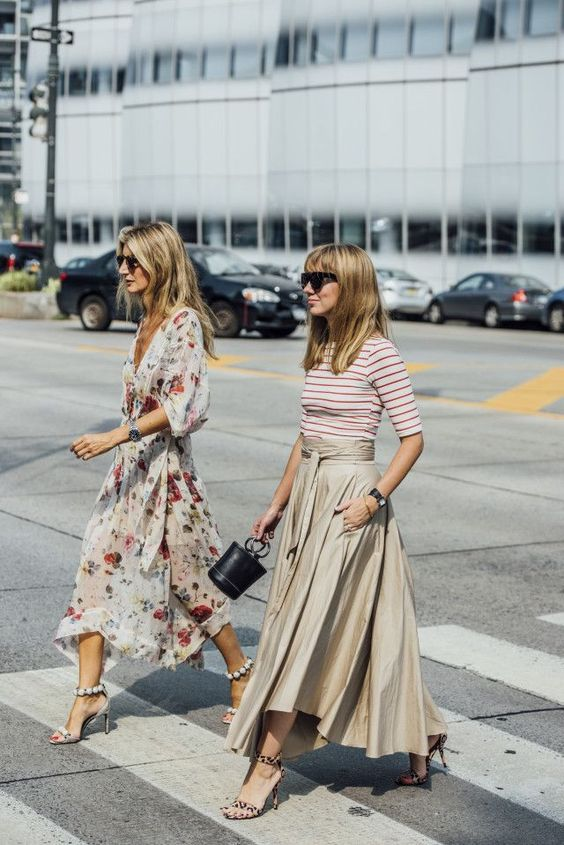 street style floral dress 2017