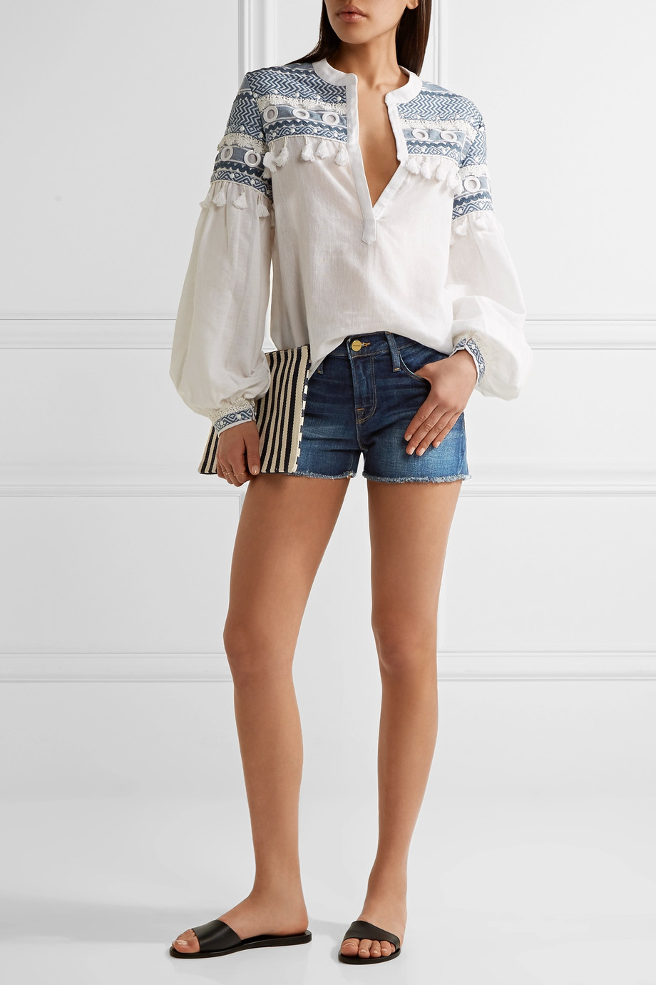 how to wear denim shorts 7