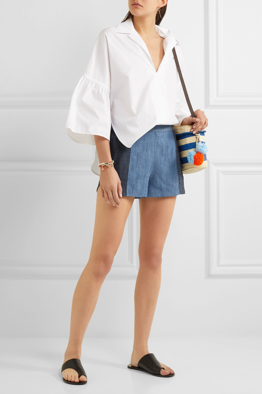 how to wear denim shorts 8