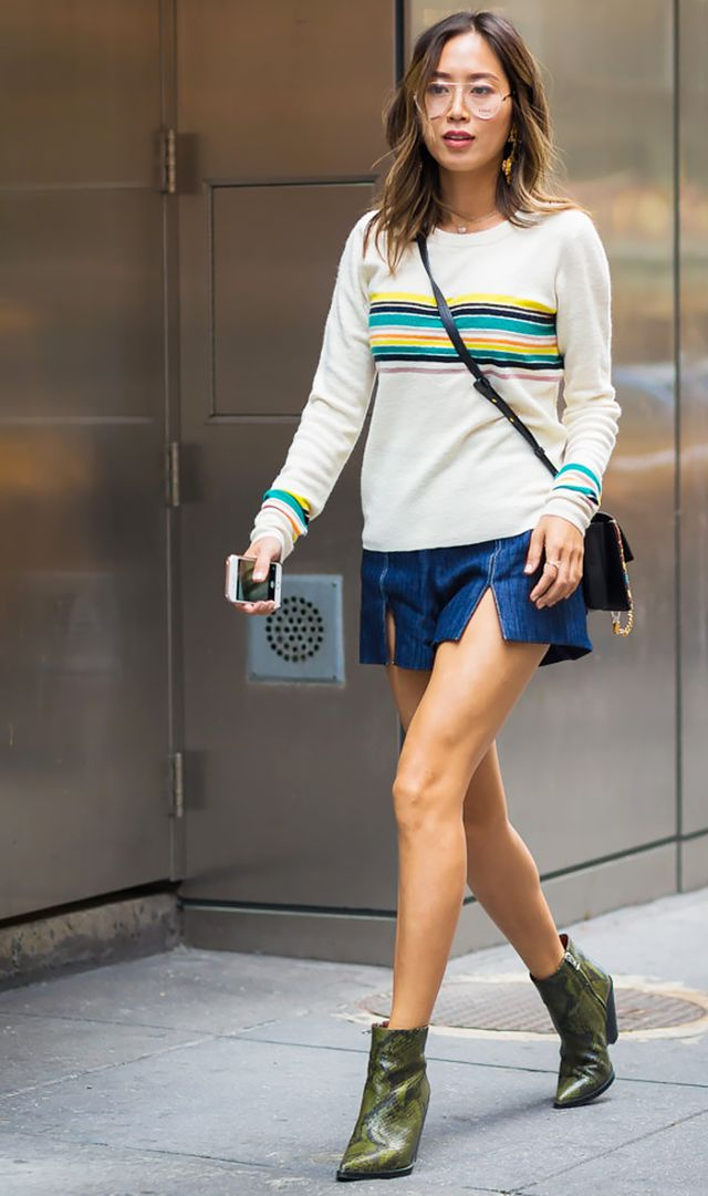 how to wear denim shorts 9