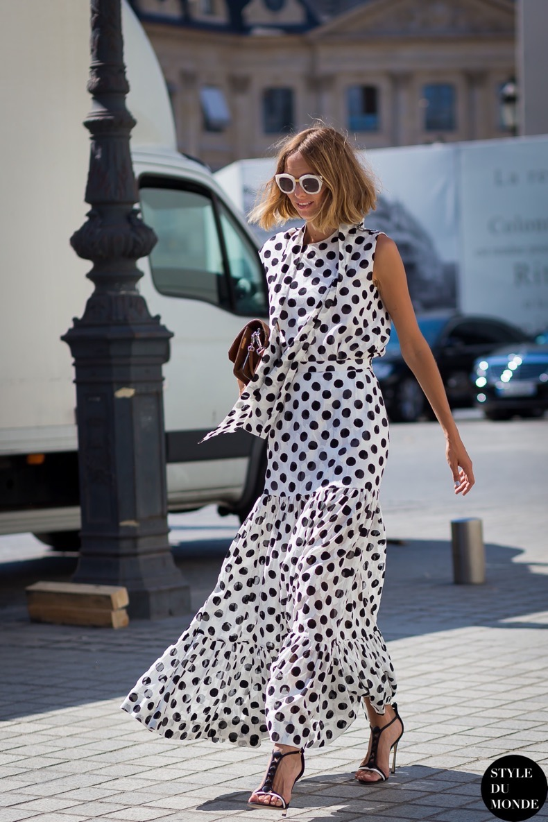 how to wear polka dots trend 2018 11