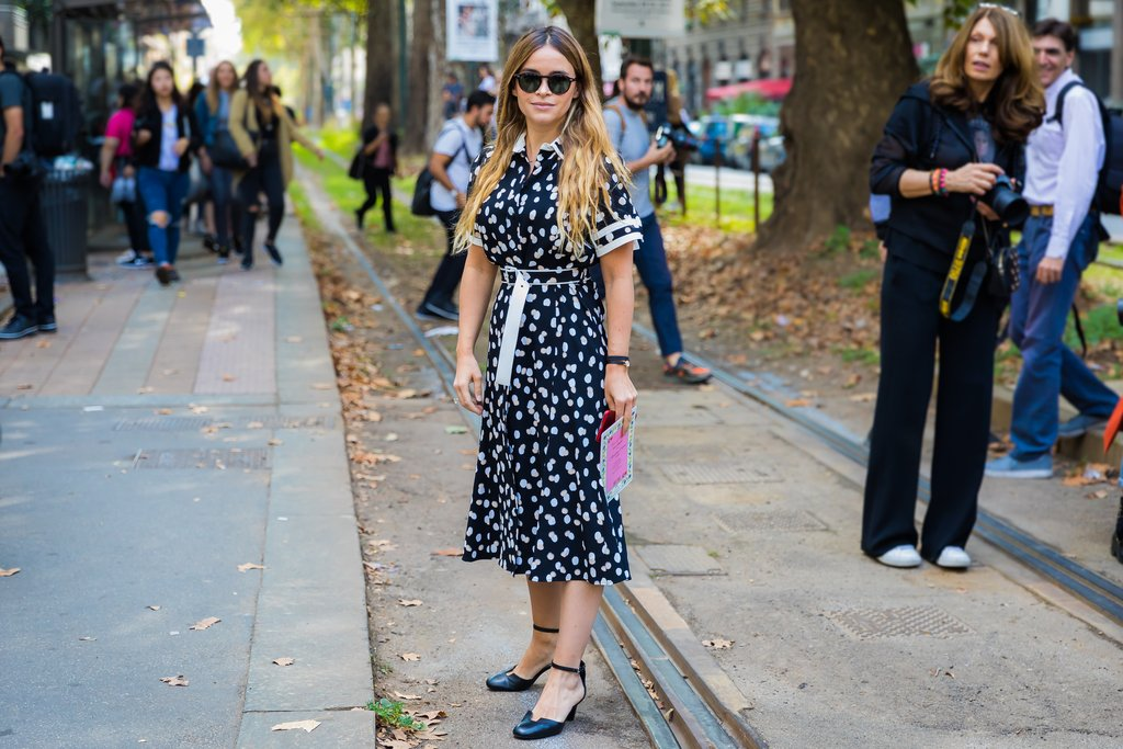 miroslava duma how to wear polka dots trend 2018
