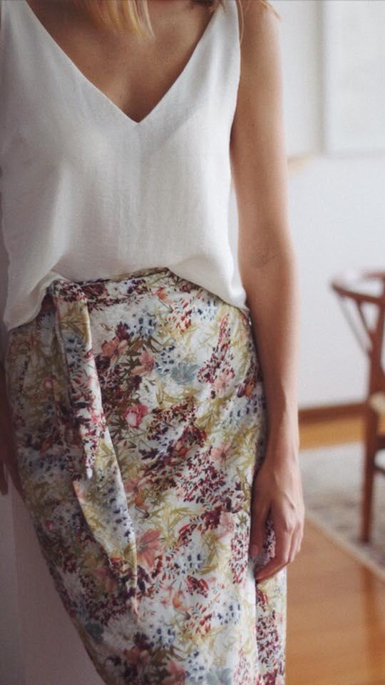 wrap effect skirt El closet de mi hermana