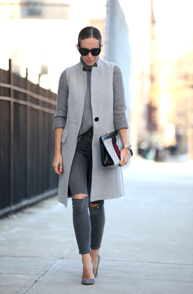 grey monochromatic look