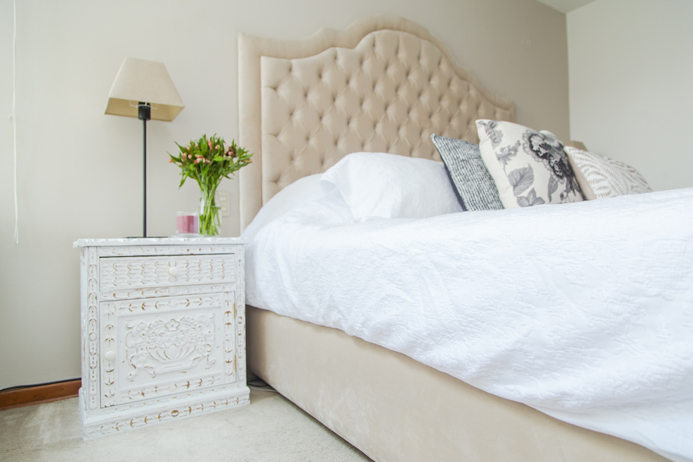 la cama de serendipity - capitoné - muebles remodelados 2