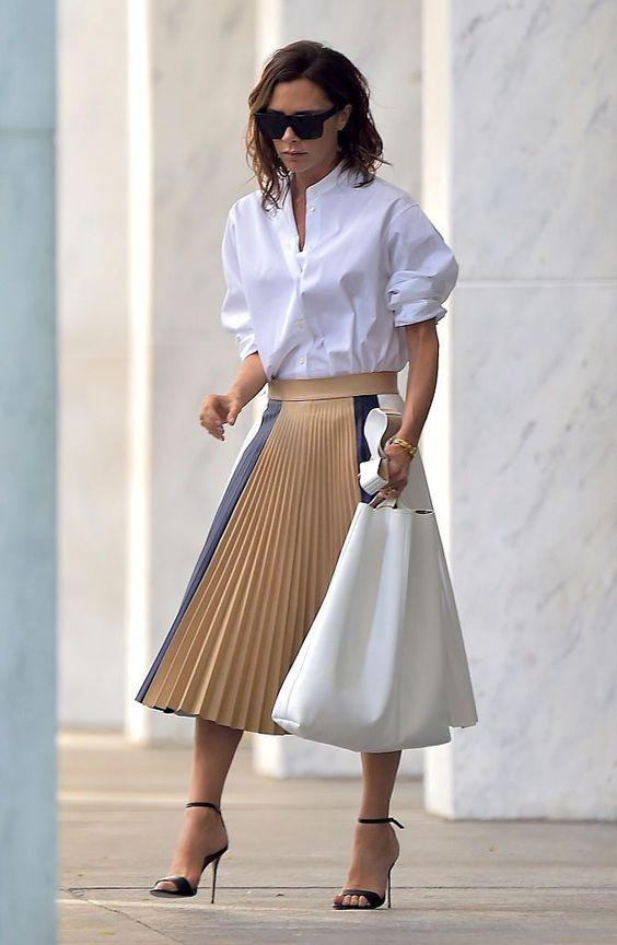 victoria Beckham style skirts