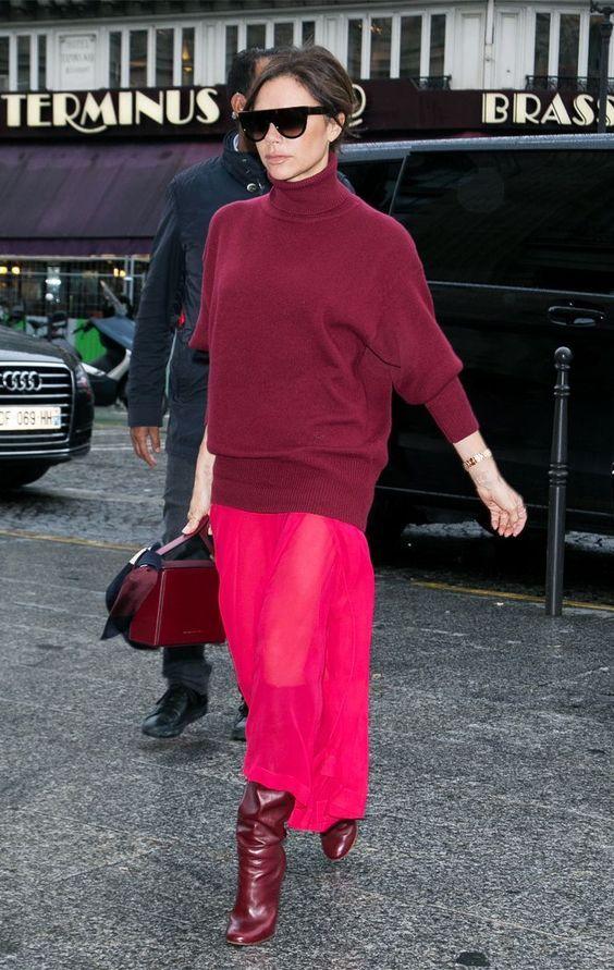 Victoria Beckham Cranberry Boots Fall 2017