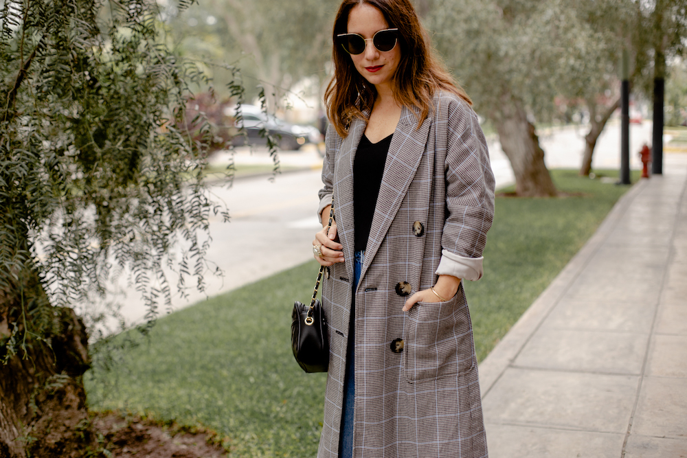 Blazer plaid Coat - La vida de Serendipity