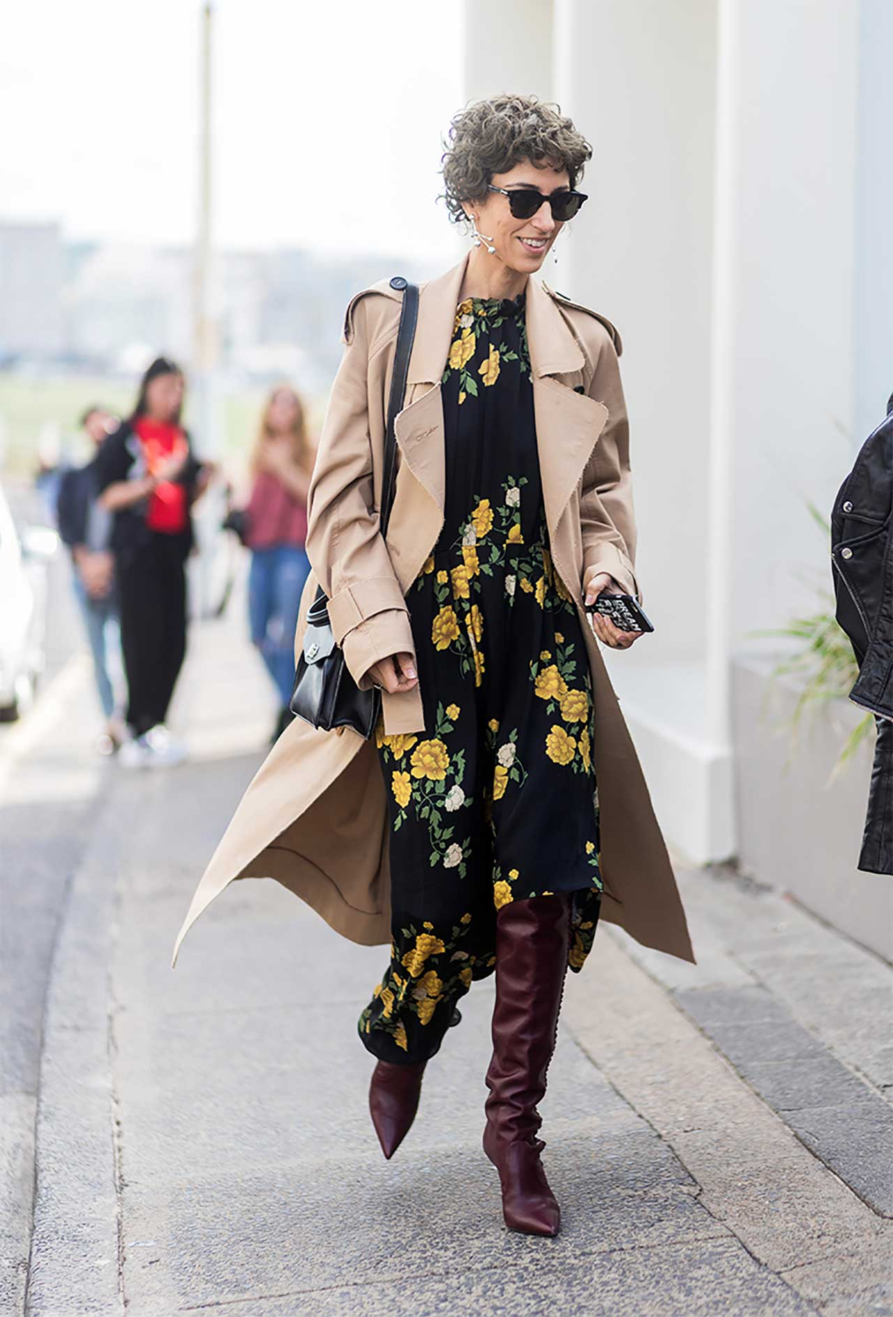 midi dress - slouchy boot trend