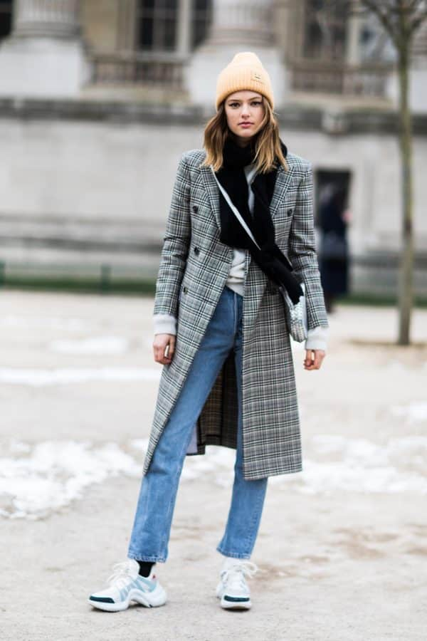 plaid coat trend 2018
