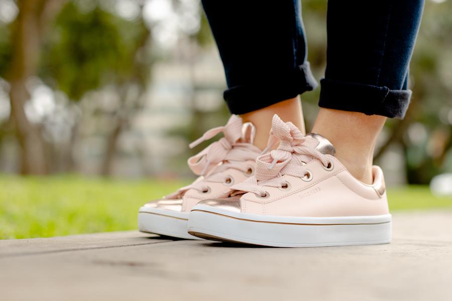 La Vida de Serendipity  Skechers Pink Sneakers