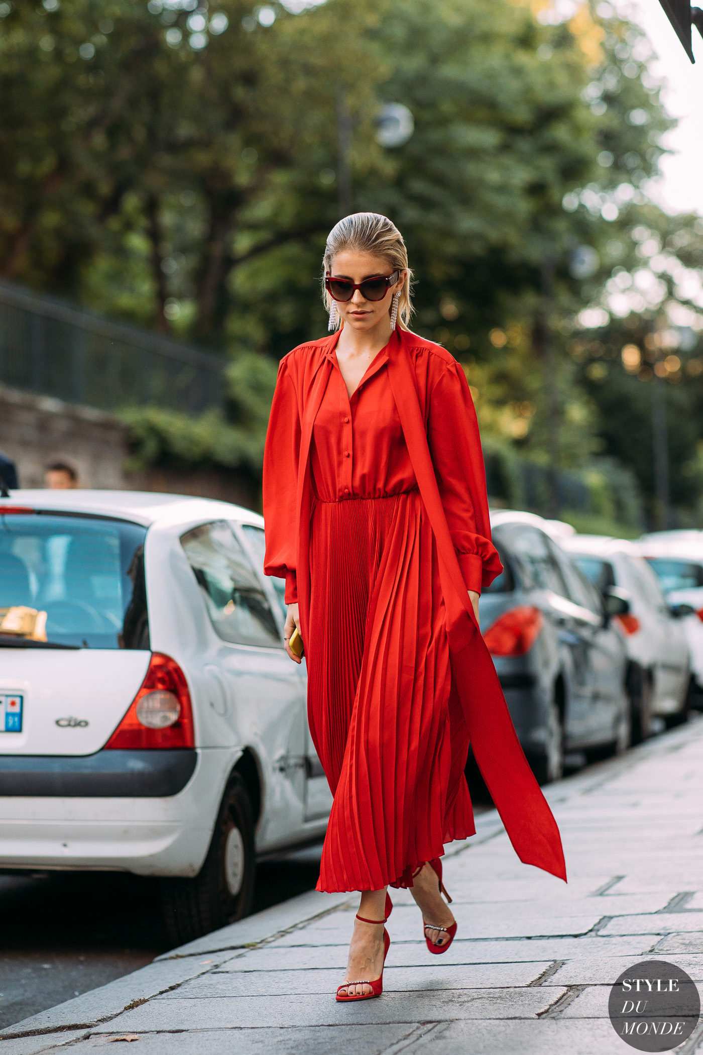 Caroline-Daur-by red dress street style