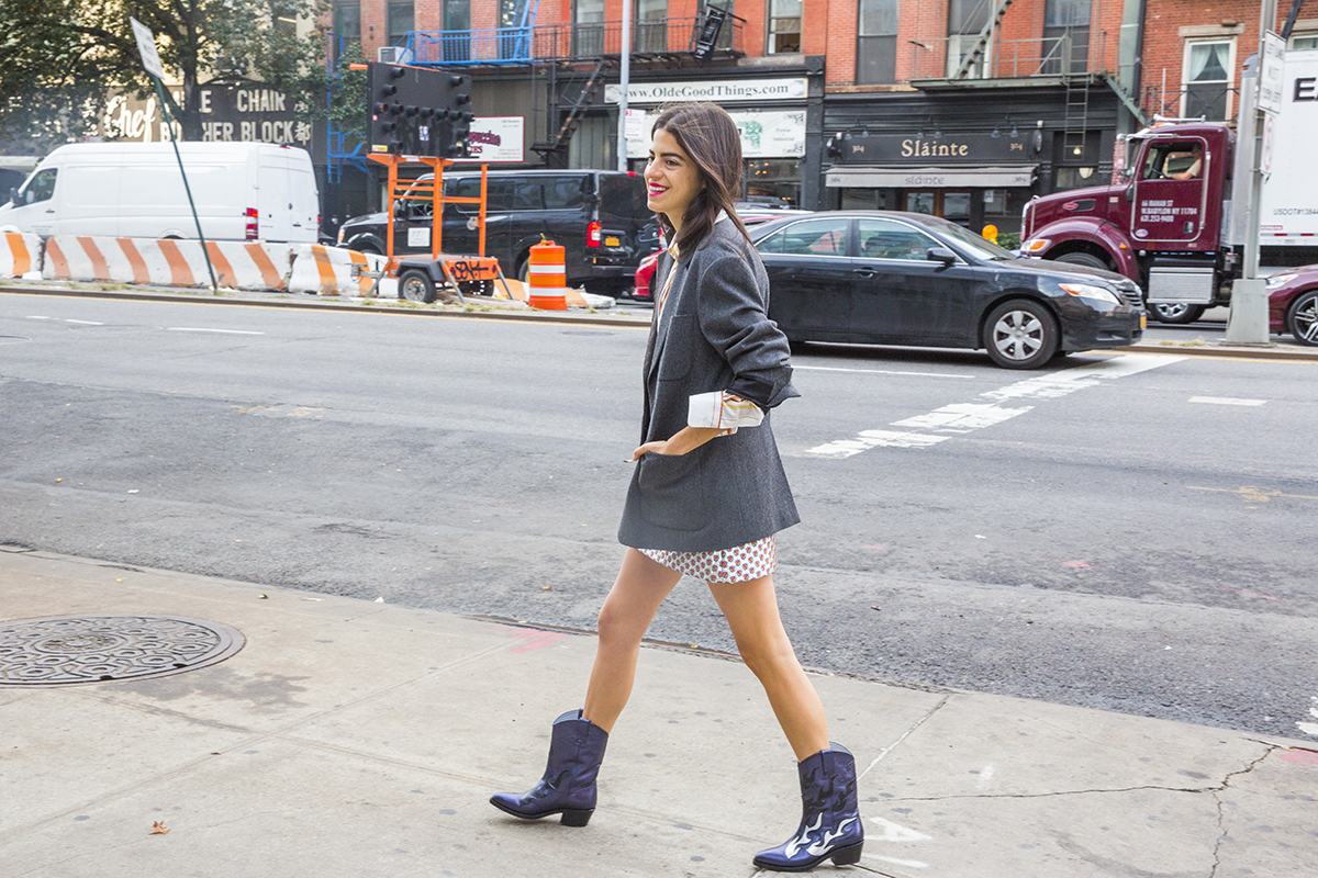 Leandra-Medine-Style-Cowboy-Boots trend