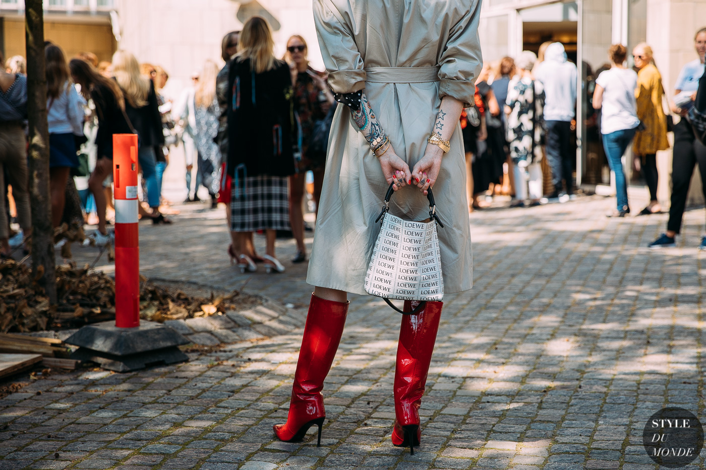 Red Boots street style