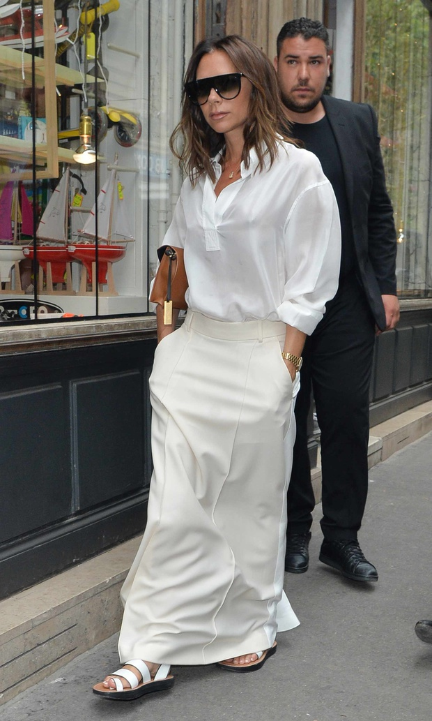Victoriia Beckham maxi skirt style 2018