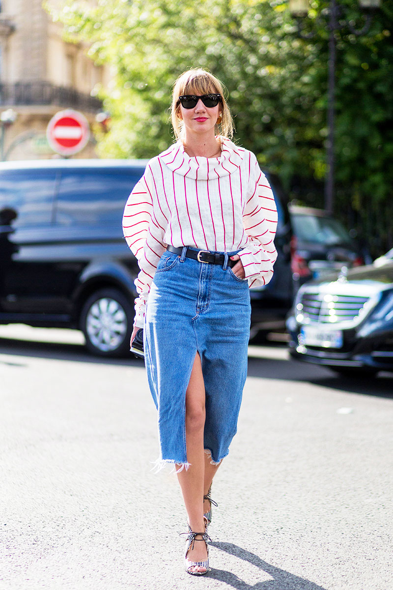 best denim skirt trend