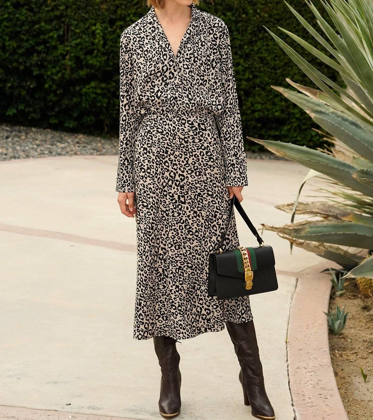 leopard print dress trend 2018