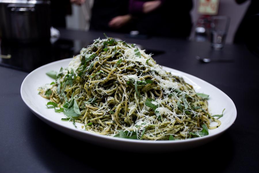 Pasta al pesto - ximena llosa - urban kitchen - la vida de serendipity