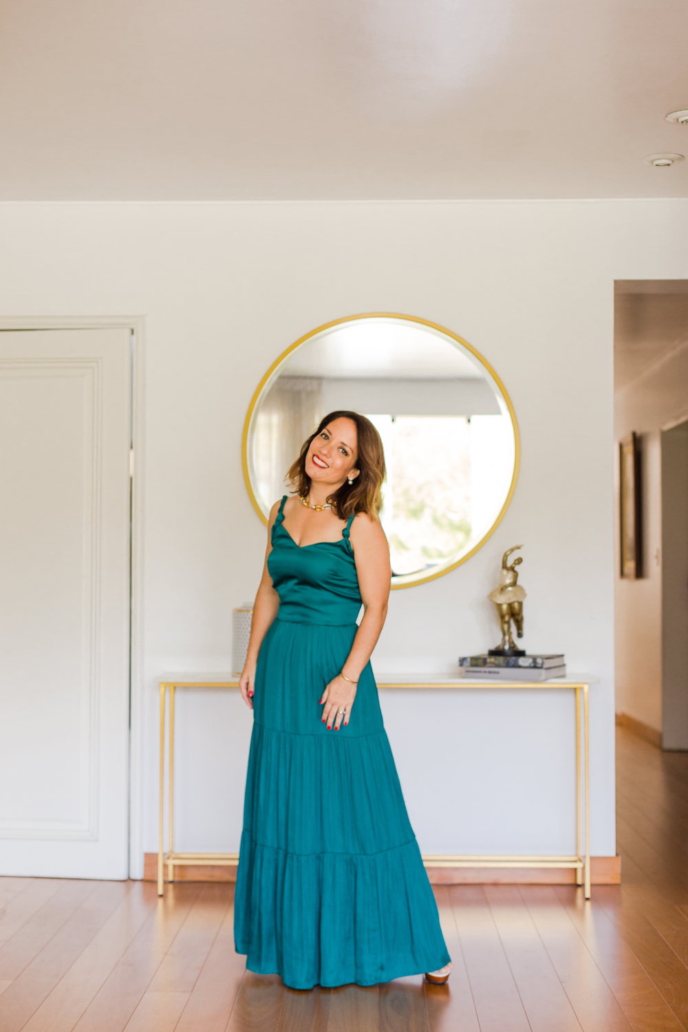 Banana Republic Emerald Green Maxi Dress - La Vida de Serendipity 1