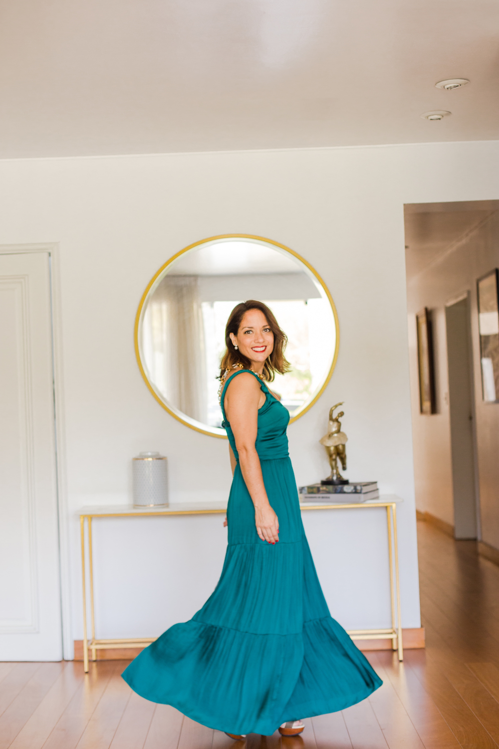 Banana Republic Emerald Green Maxi Dress - La Vida de Serendipity