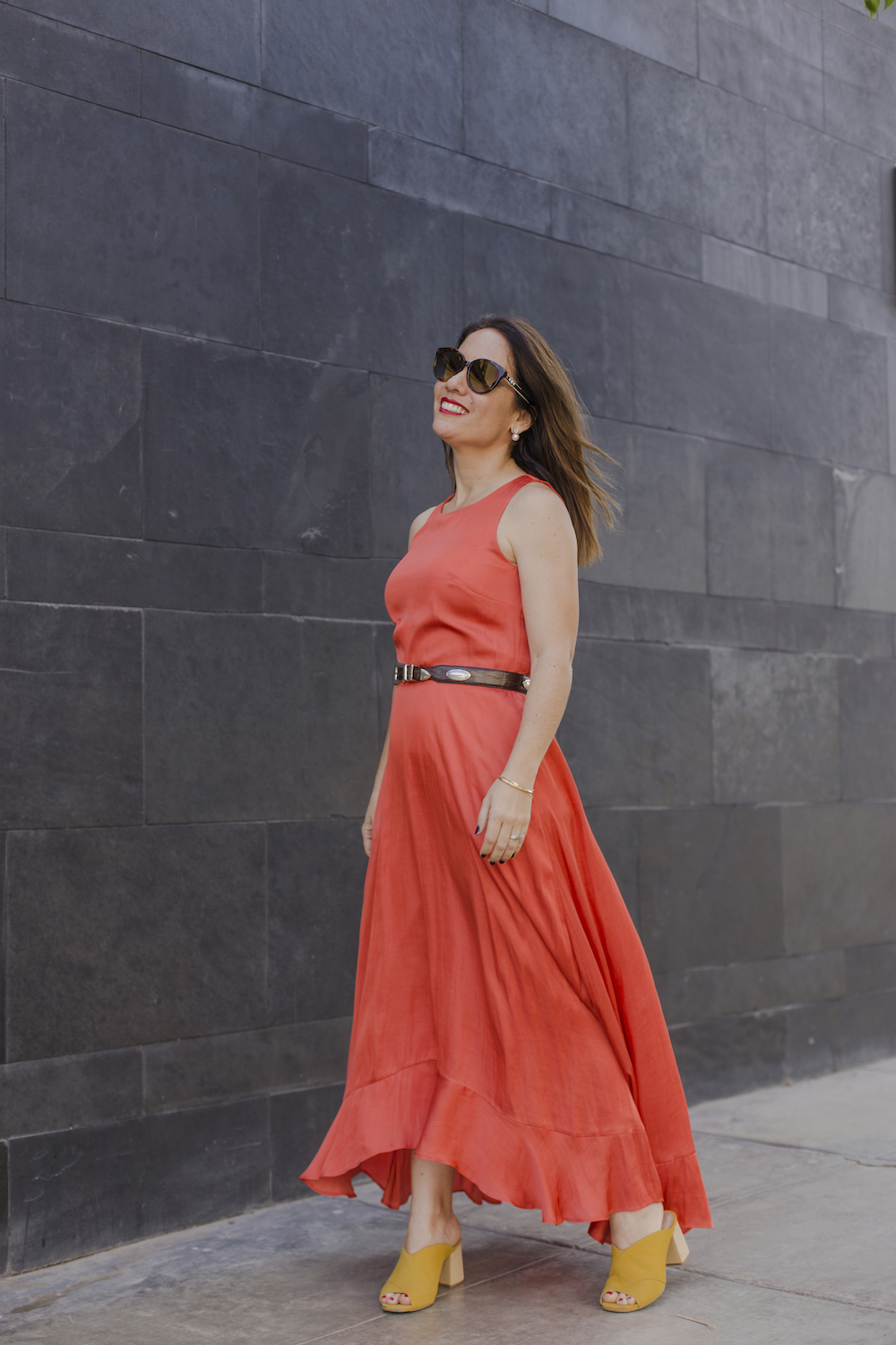 Banana Republic Orange Maxi Dress - La Vida de Serendipity 2