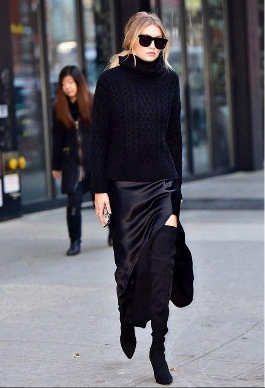 satin-skirt trend 2019