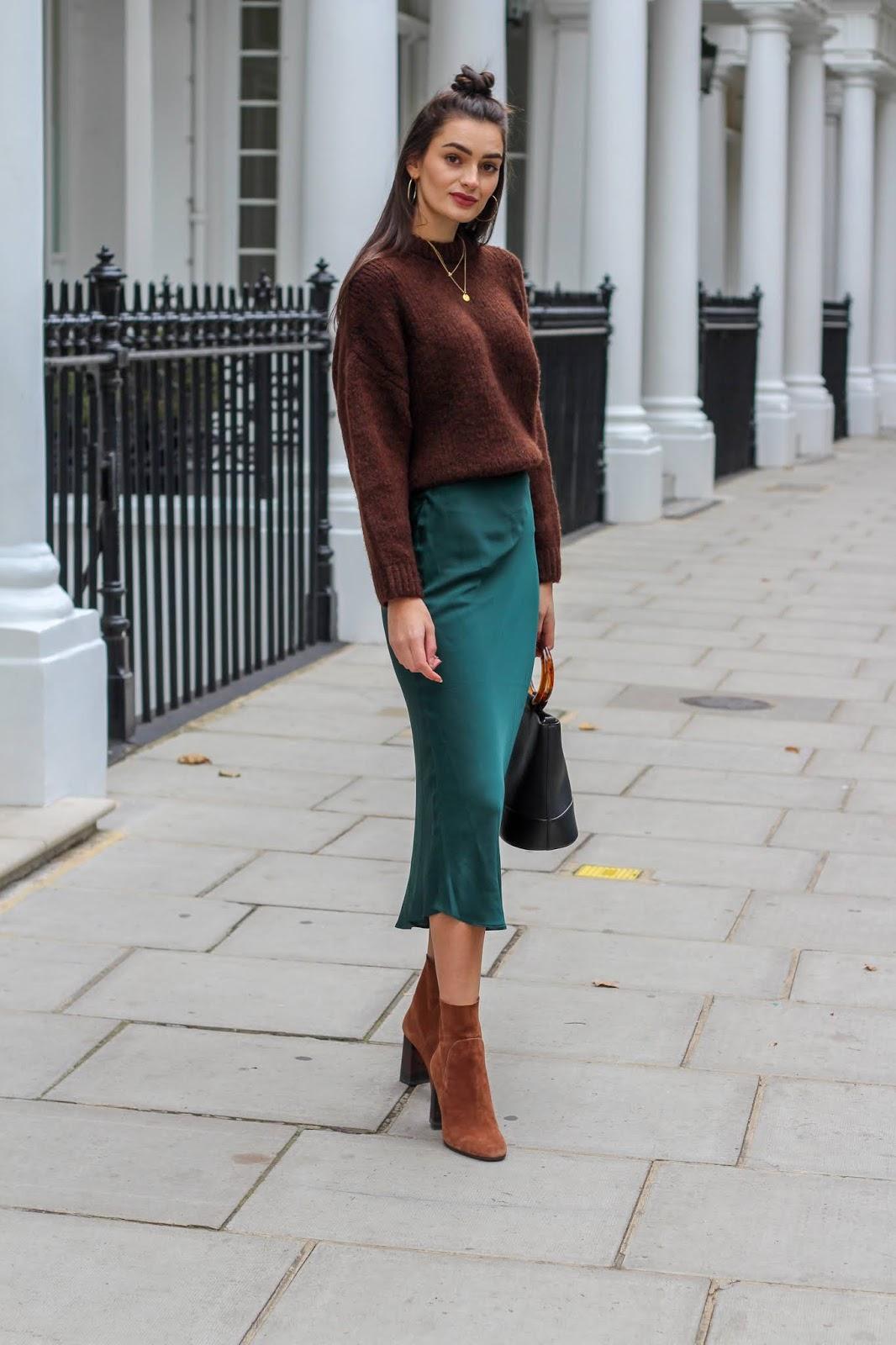 satin-skirt trend