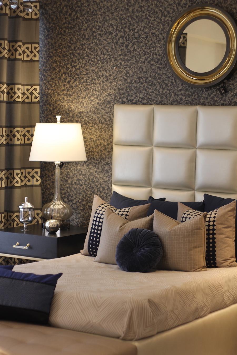 Cómo decorar con dorado la habitación prinicipal - Home Gallerie