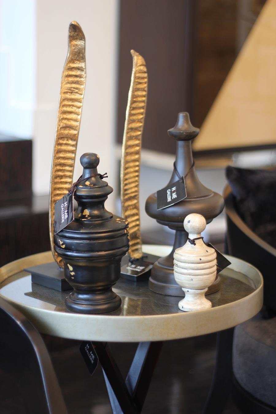 Cómo decorar con dorado y negro- lámparas doradas Home Gallerie 1