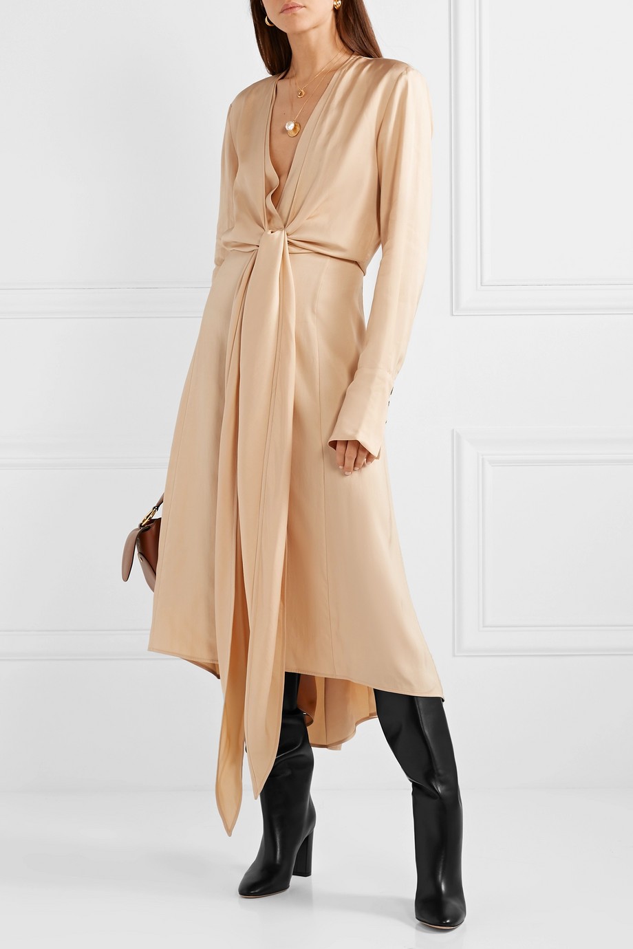 Spring Boots Trend 2019 - Boots with Dresses Gianvito Rossi