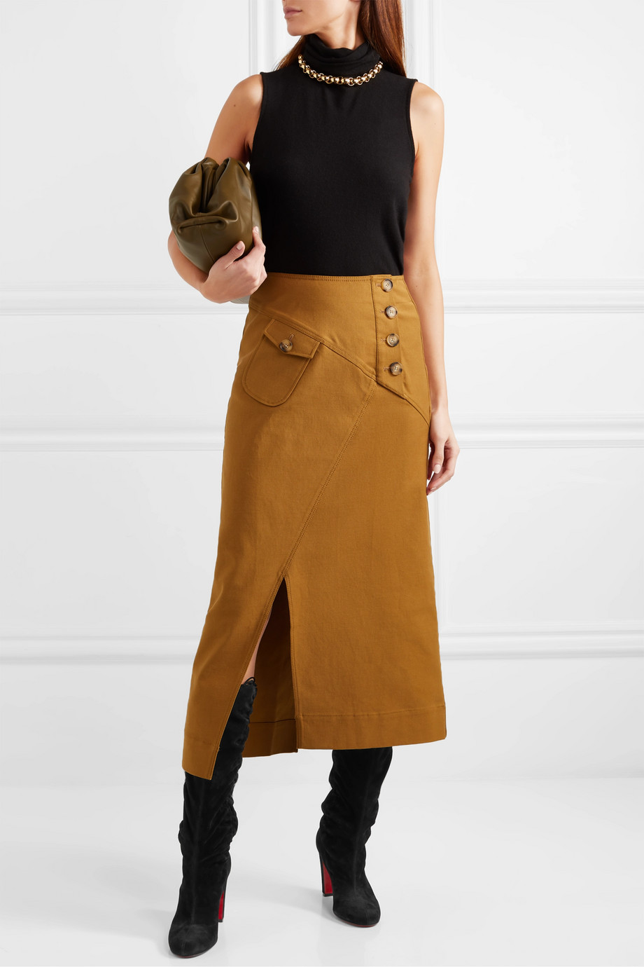 Spring Boots Trend 2019 - Boots with skirts Christian Louboutin