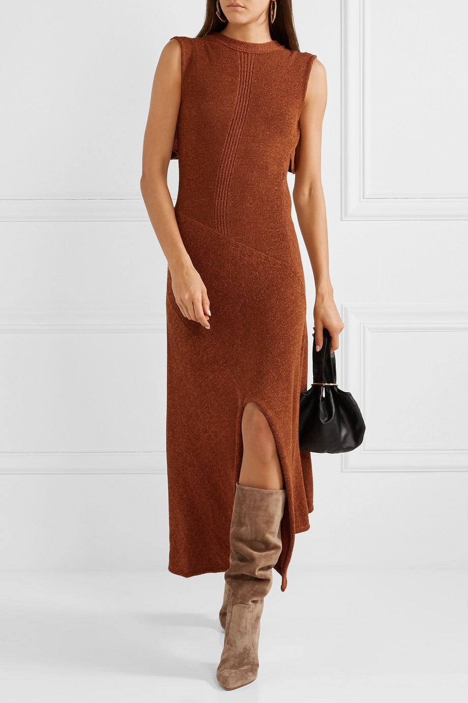 Spring Boots Trend 2019 - Suede Boots with skirts Gianvito Rossi
