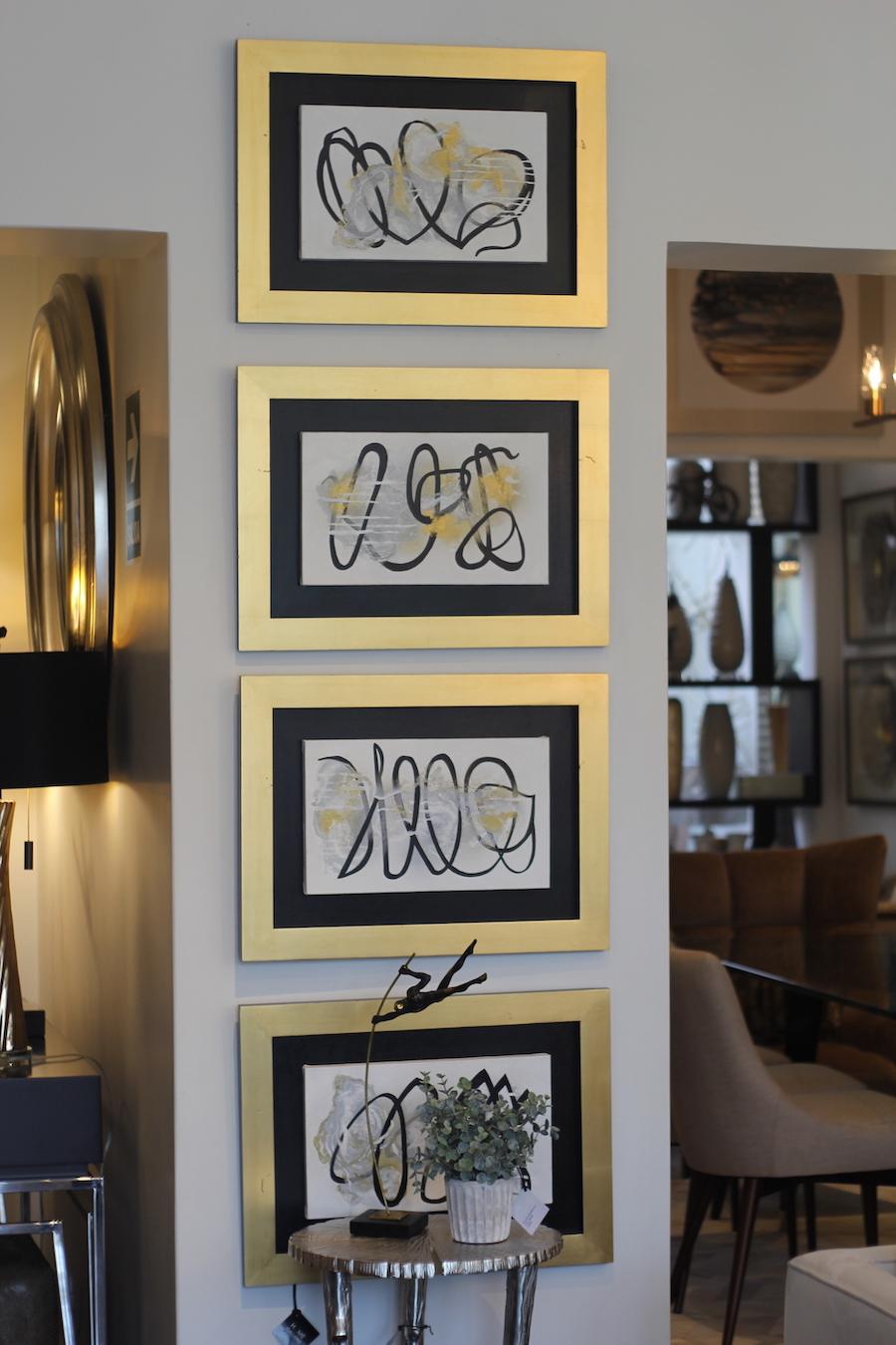 marcos de cuadros dorados - cómo decorar con dorado - adornos dorados para la casa