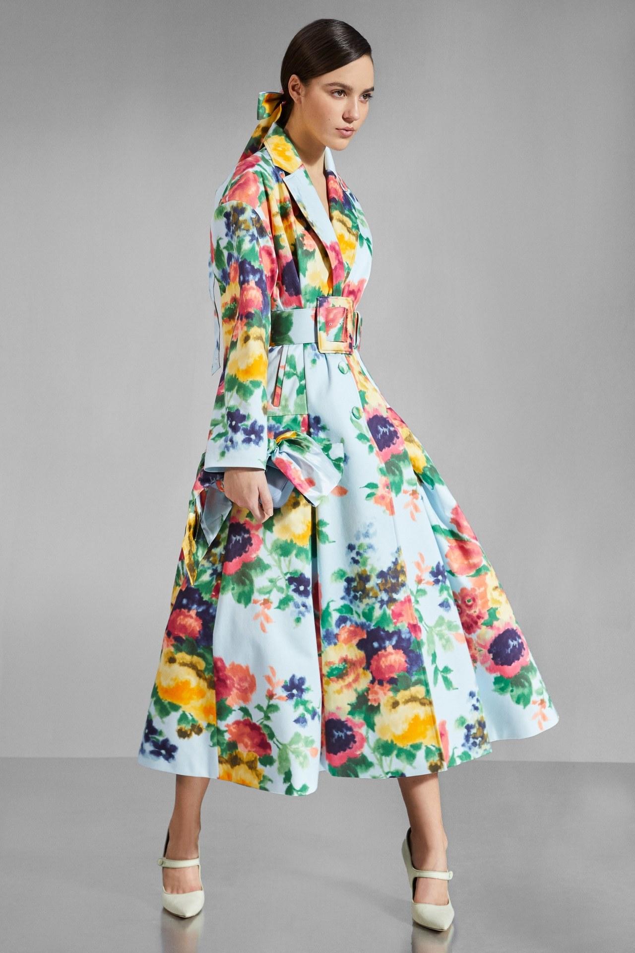 Vestido Abrigo Estampado Carolina-Herrera-Pre-Fall-2020