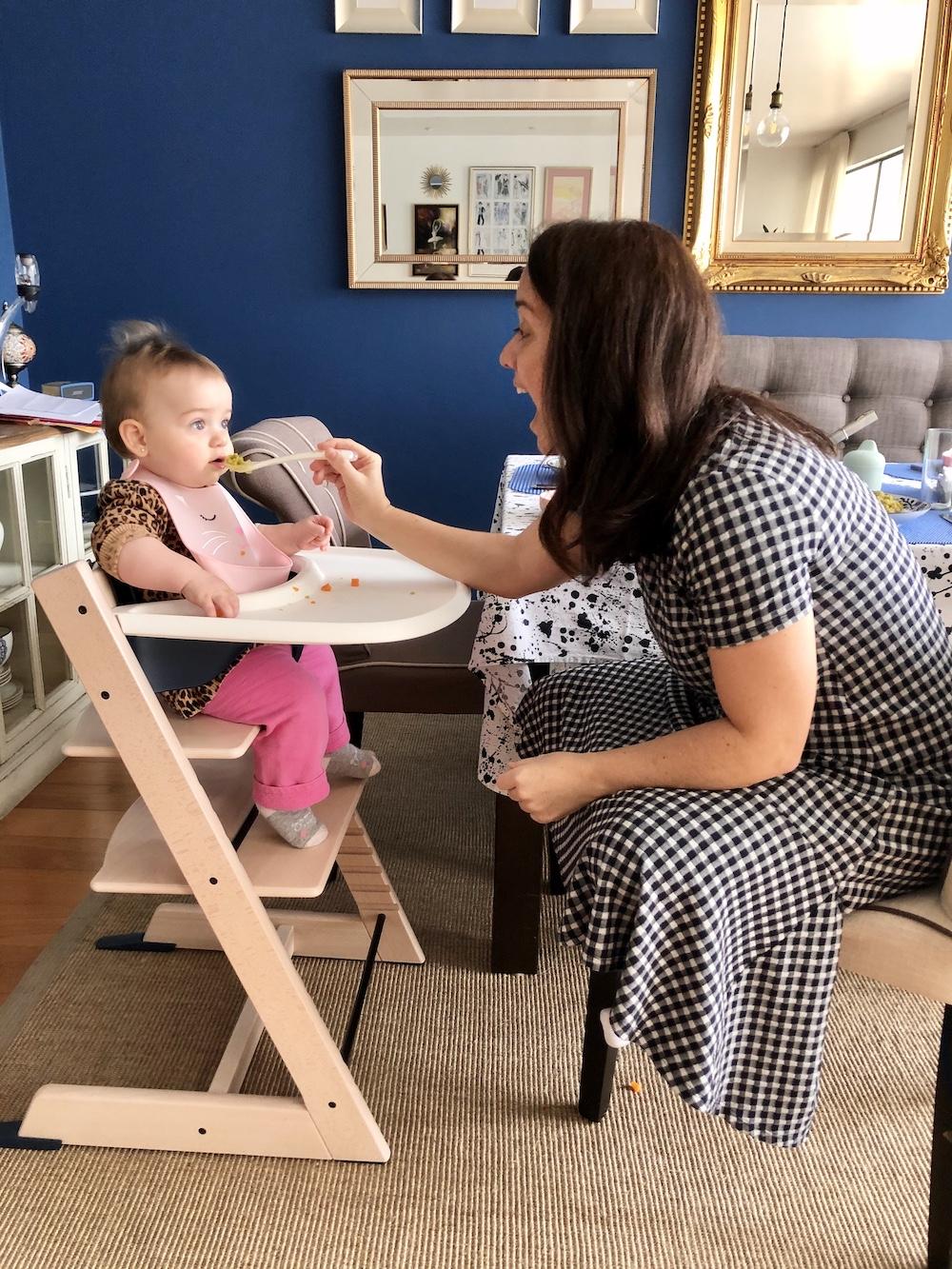 La vida de serendipity. Las comidas del bebé. Silla Stokke
