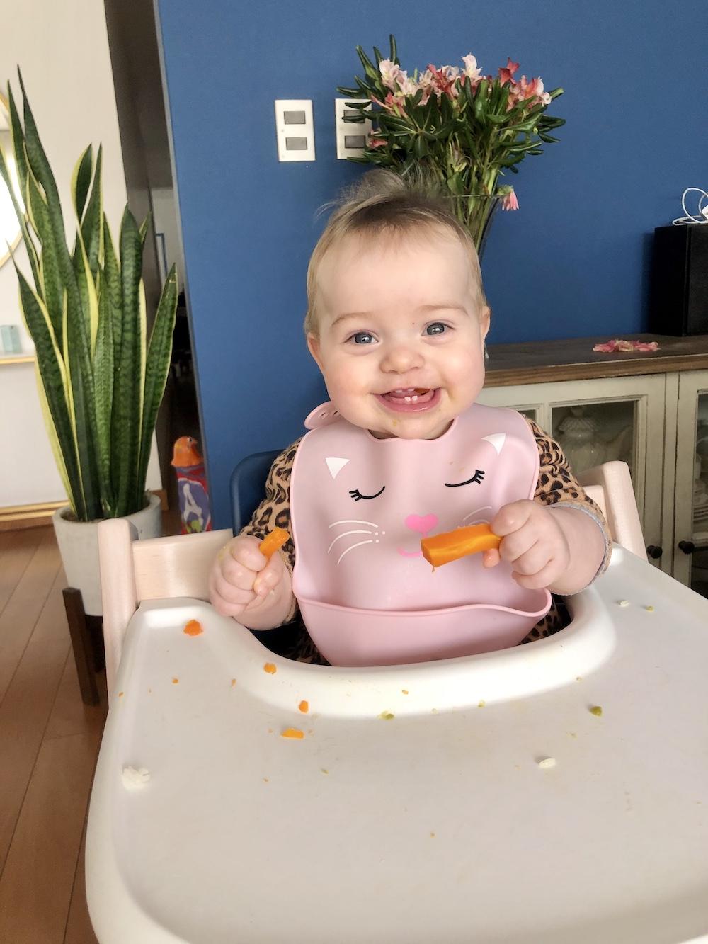 Las primeras comidas del bebe. BLW